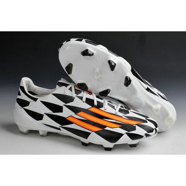 ... 2015 Adidas Messi F50 AdiZero TRX FG Soccer Cleats Black White Orange
