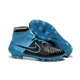 nike soccers shoes black blue