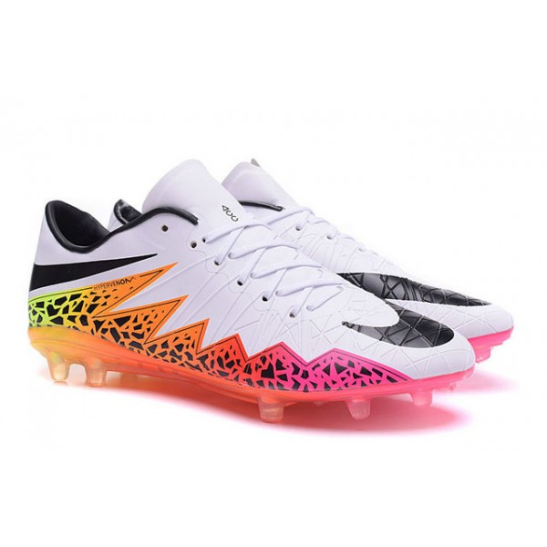 Nike soccer cleats hypervenom black and pink