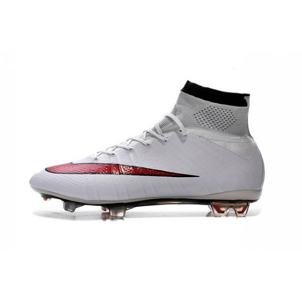 blanc nike new mercurial superfly fg mens firm ground soccer boots white red black