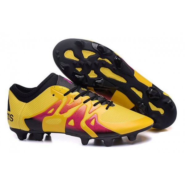 soccer boots cleats adidas x 15.1 fg yellow black red