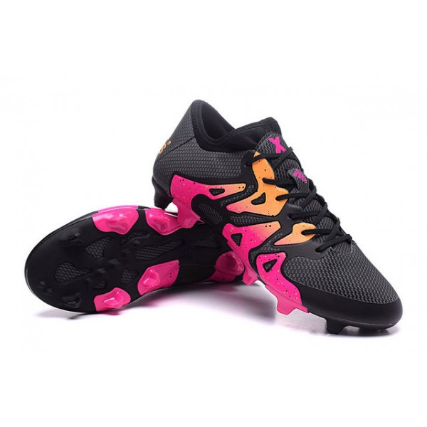 soccer boots cleats adidas x 15.1 fg pink black