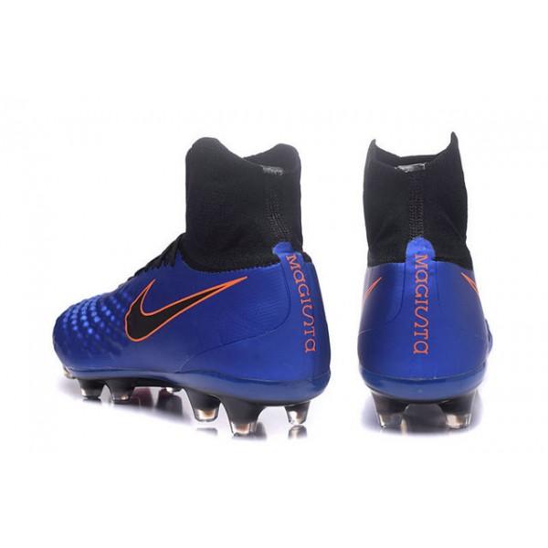 52ed08d57264 best price cleats bleu noir mens nike magista obra 2 fg soccer shoes acc  blue black