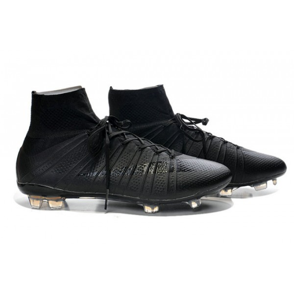 nike mercurial superfly fg soccer cleats cheap shoes all black. Black Bedroom Furniture Sets. Home Design Ideas