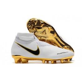 Men's Soccer Shoes - Nike Phantom Vision Elite DF FG White Gold