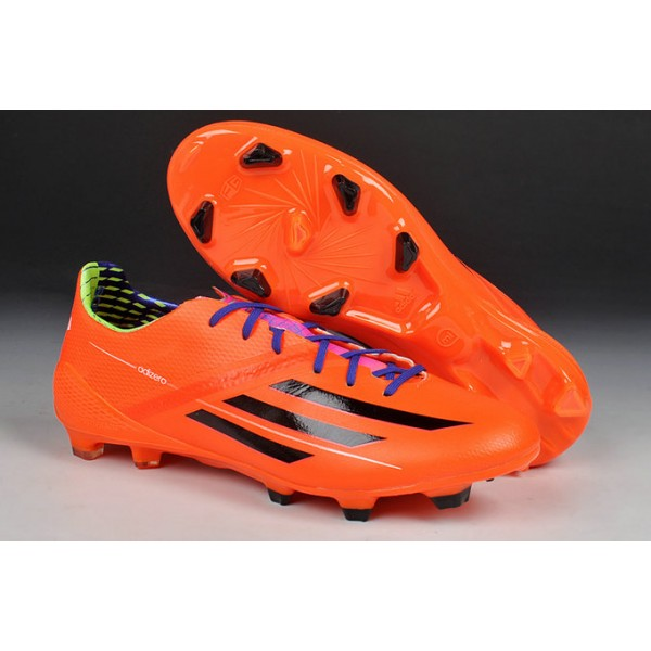 save off 8f2ca f32ee New Adidas Messi F50 AdiZero TRX FG Football Cleats Orange Purple Black