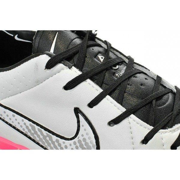 Nike Tiempo Legend V FG Firm Ground Soccer Shoes White Black Pink 3f30b8b41dc58