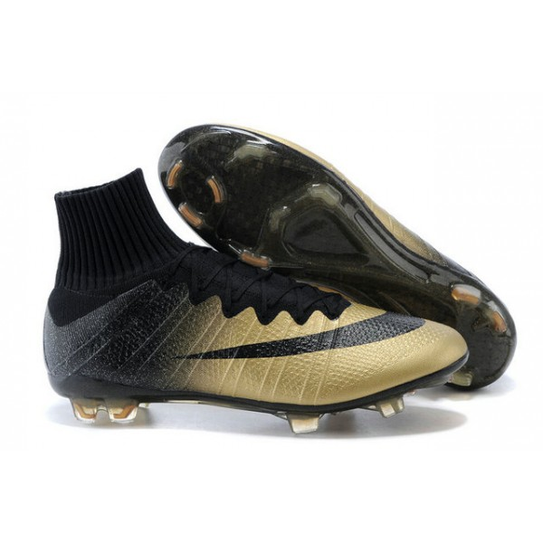 478770214 Nike Mercurial Superfly FG Soccer Cleats Cheap Shoes CR7 Golden Black