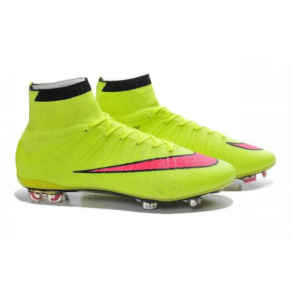 Nike Mercurial Superfly FG Soccer Cleats Cheap Shoes Volt Hyper Pink Black