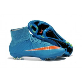 Nike Mercurial Superfly FG Soccer Cleats Cheap Shoes Blue Orange