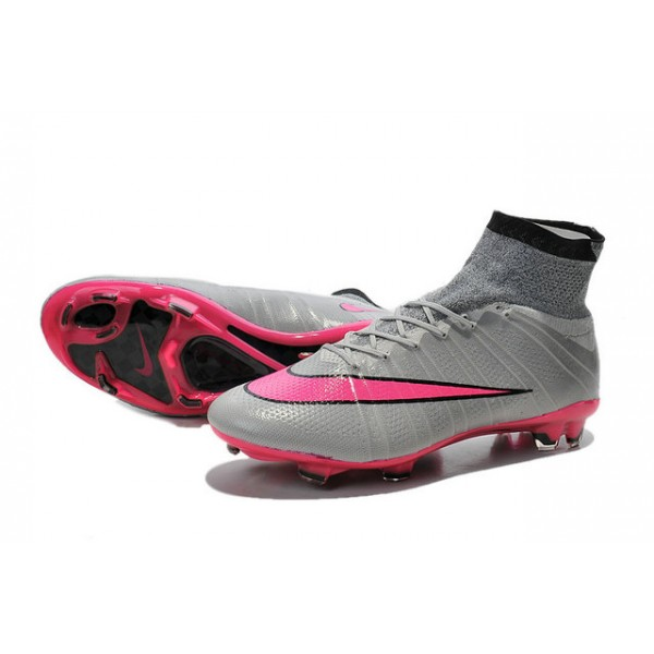 nike mercurial superfly fg soccer cleats cheap shoes grey