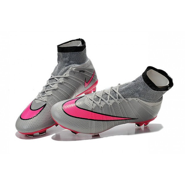 Nike Mercurial Superfly FG Soccer Cleats Cheap Shoes Grey ...