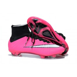 2015 Nike Mens Mercurial Superfly FG Football Cleats Black Pink White
