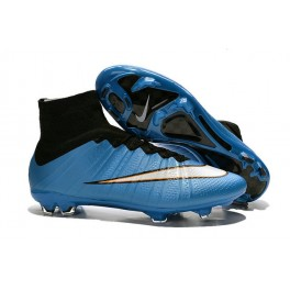 Nike Mercurial Superfly FG Soccer Cleats Cheap Shoes Blue White Black