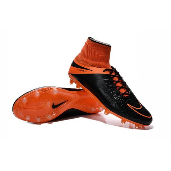 official photos 3a4bd 9e285 Mens Nike HyperVenom Phantom 2 FG Soccer Shoes ACC Leather Black Total  Orange