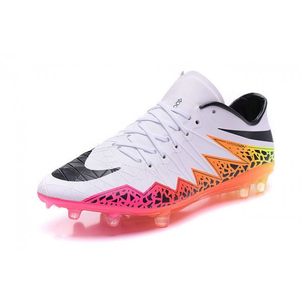 on sale f8b70 3c930 ... get nike hypervenom phantom premium fg football cleats for men white  orange pink black 8f592 9f6d0