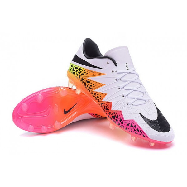 Nike Hypervenom Phantom Premium FG Football Cleats for Men White Orange  Pink Black