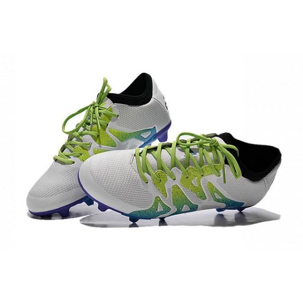 2015 Adidas X 15.1 FG AG Mens Soccer Cleats - White Blue Green f420223f1a5e5