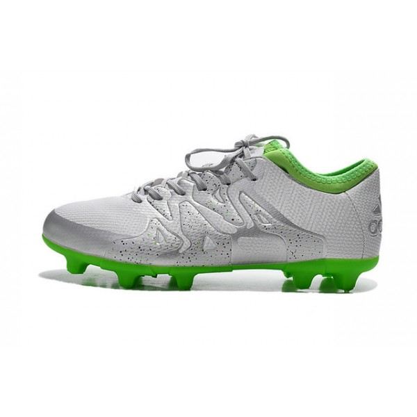 super cute 72fad 68459 2015 Adidas X 15.1 FG/AG Mens Soccer Cleats - Silvery Green