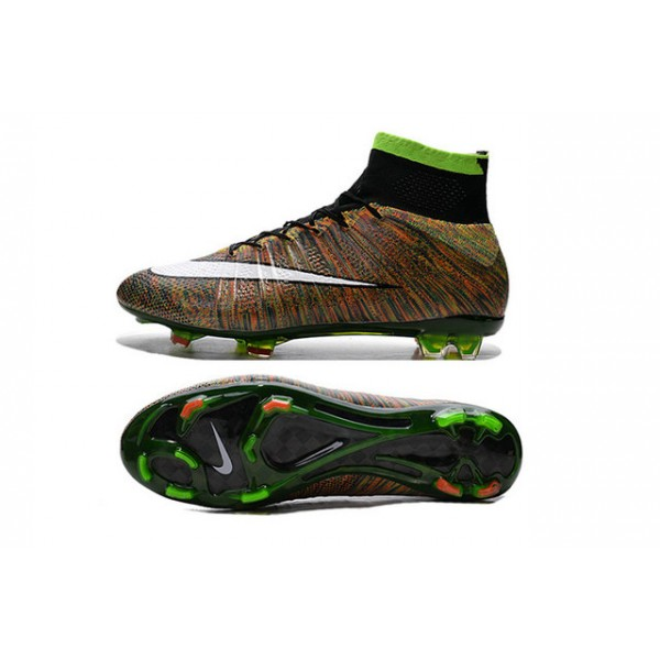 2015 Nike Mens Mercurial Superfly FG Football Cleats Green Black White  Multicolor