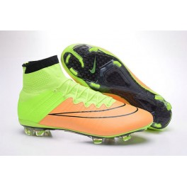 2016 nike men's mercurial superfly fg football cleats leather canvas black volt