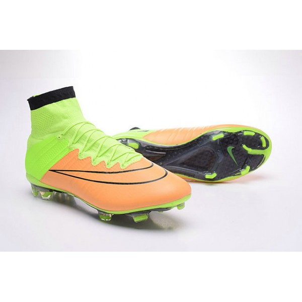 2016 Nike Mens Mercurial Superfly FG Football Cleats Leather Canvas Black  Volt