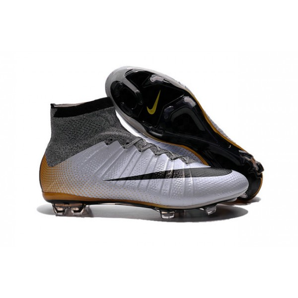 0ecc17ba6d4f ... italy nike new mercurial superfly fg mens firm ground soccer boots  cr500 silvery black gold a7016