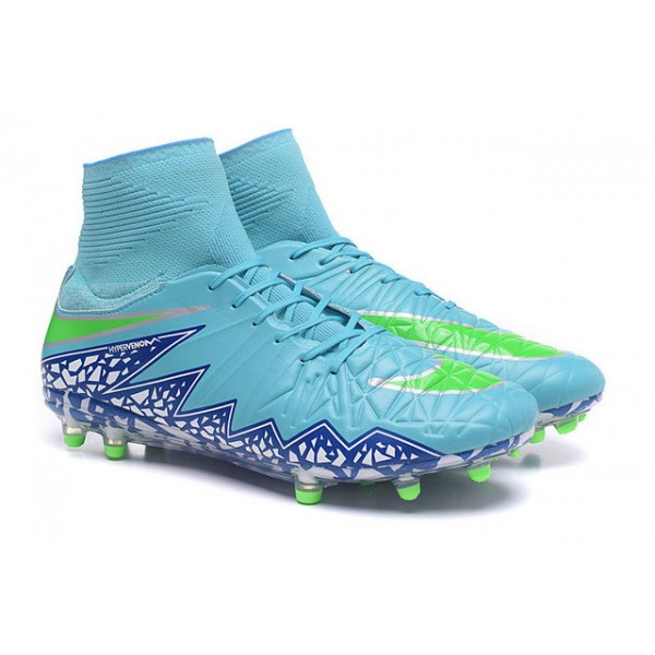 Mens Nike HyperVenom Phantom 2 FG Soccer Shoes ACC Blue Green White f3f5a63148