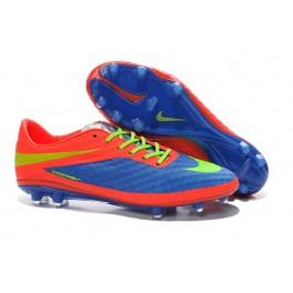 Soccer Boots Nike hypervenom phantom FG - Blue Red Green