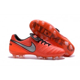 Nike Cleats Cheap Boots Nike Tiempo Legend 6 FG Orange Black Grey