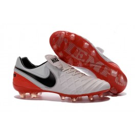 Nike Cleats Cheap Boots Nike Tiempo Legend 6 FG White Black Red