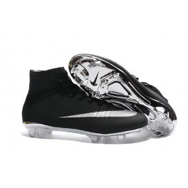 online store 1d669 f46f8 Nike Mercurial Superfly FG Soccer Cleats Cheap Shoes Silver Black