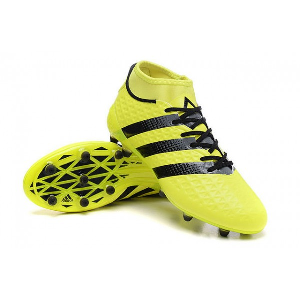 best service af015 9660f ... authentic adidas ace 16.1 primeknit fg ag new mens cleats yellow black  3eb88 14825