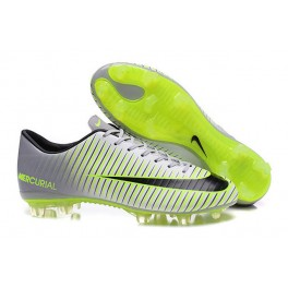 New Nike Mercurial Vapor XI CR FG Football Boots Silvery Black Green
