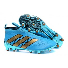 da6a62428c97 Adidas ACE 16+ Purecontrol FG AG - New Football Cleats - Blue Gold