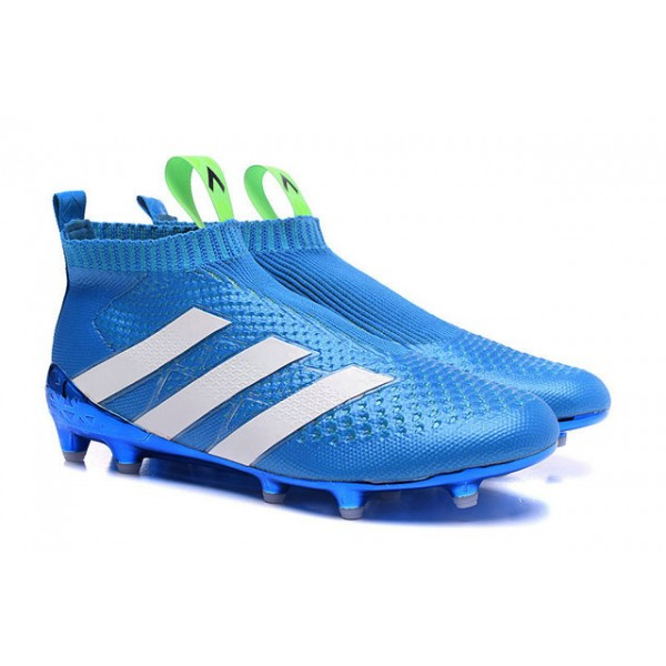 adidas ace 16+ purecontrol fg ag new football cleats blue white