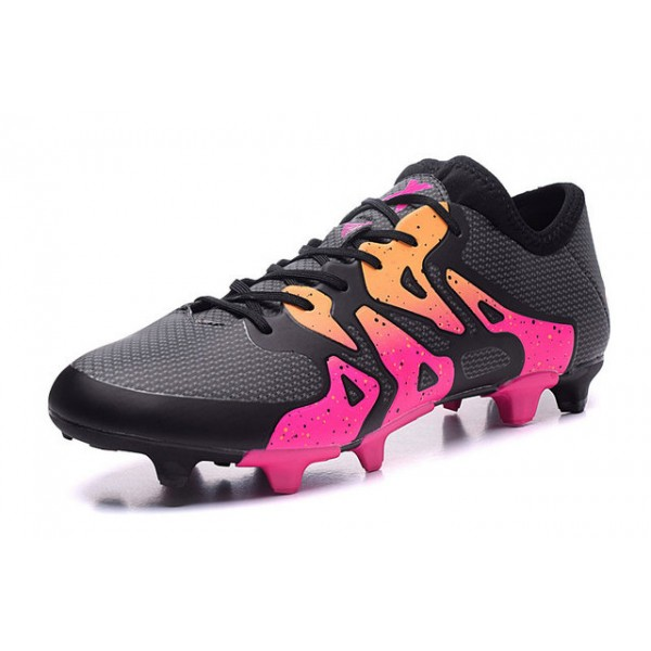best 2016 adidas x 15 1 fg ag mens soccer cleats pink black orange. Black Bedroom Furniture Sets. Home Design Ideas