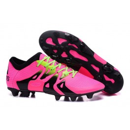 Men's Football Boots - New Adidas X 15.1 FG/AG Pink Black Green