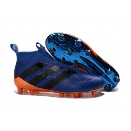 Adidas ACE 16+ Purecontrol FG/AG - New Football Cleats - Blue Orange Black