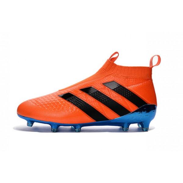 Adidas asso 16 + purecontrol fg / ag nuovo calcio scarpe blu arancione