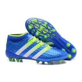 lowest price 1393a cbdff Adidas ACE 16.1 Primeknit FG AG - New Men s Cleats Blue Green White