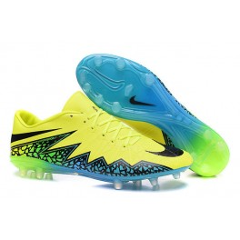 Nike Hypervenom Phinish FG Mens Football Boots Soccer Cleats Firm Ground Volt Black Hyper Turquoise