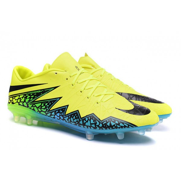 low priced 692e7 e2d15 Nike Hypervenom Phinish FG Mens Football Boots Soccer Cleats Firm Ground Volt  Black Hyper Turquoise