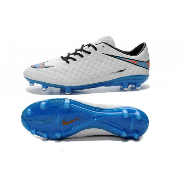 Mens Nike New Hypervenom Football Boots FG Cleats Reflective Pack White Blue