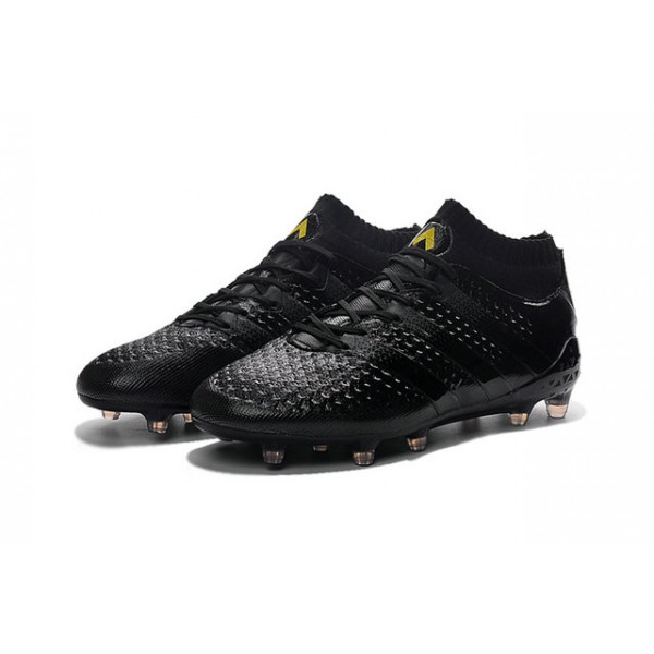 sports shoes 2e4ba 88327 ... italy football boots 2016 adidas ace 16.1 primeknit fg ag all black  ea6e2 ee2c9 switzerland adidas ace 16.1 primeknit firm ground ...