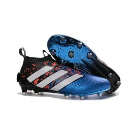 Adidas ACE 16+ Purecontrol FG/AG - New Football Cleats - Paris Pack - Blue Red Black White