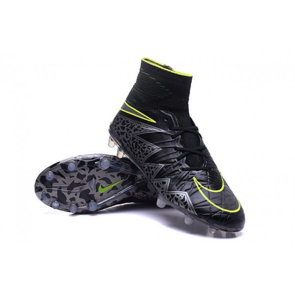 Men s Nike HyperVenom Phantom 2 FG Soccer Shoes ACC Black Metallic Hematite  Volt 1564eafe2e61