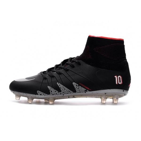 47aeabba1e90 New Cleats For Men Nike HyperVenom Phantom II FG NJR x Jordan Black Light  Crimson White Metallic Silver