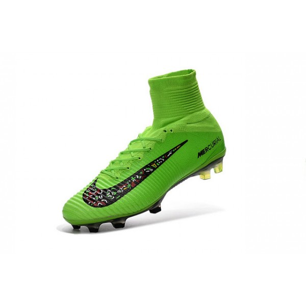official photos 2a7e0 920bd New Nike Mercurial Superfly 5 FG - Nike Shoes For Men Green Black