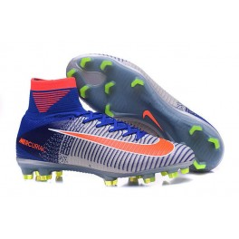 2016 Football Shoes - Nike Mercurial Superfly V FG Blue White Orange
